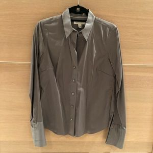 Banana Republic sateen button down